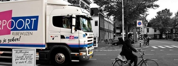 Vrachtwagen Rijden Voor De Fun Kom Bij Oosterpoort